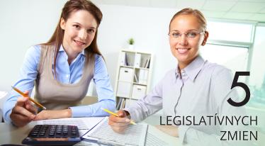 5 legislatívnych zmien