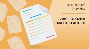 Februárové novinky - viac položiek na dokladoch iDoklad sk