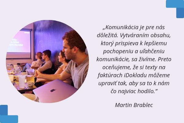 Martin Brablec z Obsahovej agentúry | Skúsenosti používateľov iDokladu