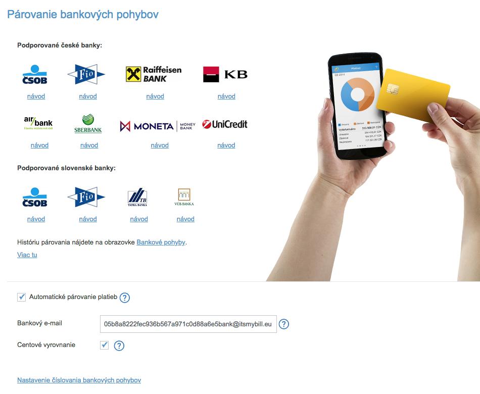 iDoklad - Nastavenie Banka