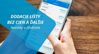 Novembrové novinky iDoklad - dodacie listy bez cien